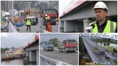Pierwsze ciężarówki przejechały nowym mostem w Malborku. Zobacz jak wyglądały próby obciążeniowe - 20.09.2016