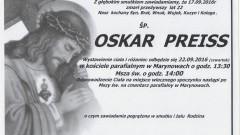 Zmarł Oskar Preiss. Żył 22 lata.