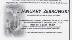 Zmarł January Żebrowski. Żył 83 lata.