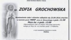Zmarła Zofia Grochowska. Żyła 78 lat.