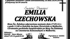 Zmarła Emilia Czechowska. Żyła 84 lata.