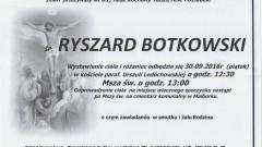 Zmarł Ryszard Botkowski. Żył 61 lat.