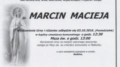 Zmarł Marcin Macieja. Żył 21 lat.
