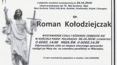 Zmarł Roman Kołodziejczak. Żył 76 lat.