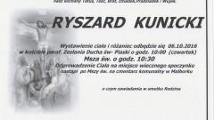 Zmarł Ryszard Kunicki. Żył 79 lat.
