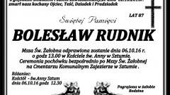 Zmarł Bolesław Rudnik. Żył 87 lat.