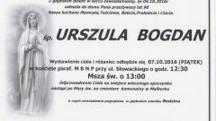 Zmarła Urszula Bogdan. Żyła 90 lat.