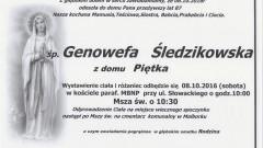 Zmarła Genowefa Śledzikowska. Żyła 87 lat.