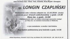 Zmarł Longin Czapliński. Żył 64 lata.