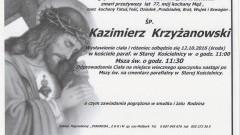 Zmarł Kazimierz Krzyżanowski. Żył 77 lat.