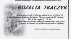 Zmarła Rozalia Tkaczyk. Żyła 91 lat.
