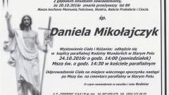 Zmarła Daniela Mikołajczyk. Żyła 89 lat.