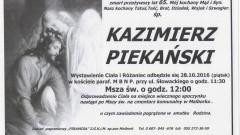 Zmarł Kazimierz Piekański. Żył 65 lat.