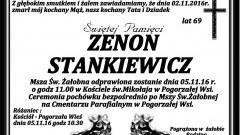 Zmarł Zenon Stankiewicz. Żył 69 lat.