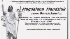 Zmarła Magdalena Mandziuk. Żyła 33 lata.