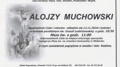 Zmarł Alojzy Muchowski. Żył 84 lata.