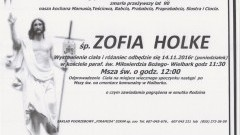 Zmarła Zofia Holke. Żyła 90 lat.