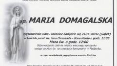 Zmarła Maria Domagalska. Żyła 93 lata.