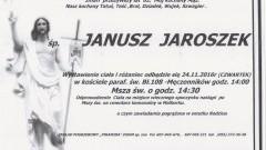Zmarł Janusz Jaroszek. Żył 62 lata.