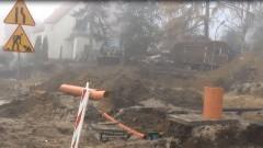 Budowa ronda w Sztumie. Prace z mozołem posuwają się naprzód (WIDEO) – 25.11.2016
