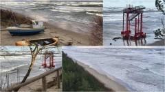 Sztorm na Bałtyku. Plaża w Stegnie pod wodą – 28.11.2016