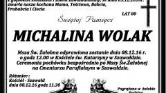 Zmarła Michalina Wolak. Żyła 80 lat.