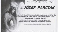 Zmarł Józef Parciak. Żył 73 lata.