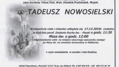 Zmarł Tadeusz Nowosielski. Żył 87 lat.
