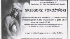 Zmarł Grzegorz Porożyński. Żył 52 lata.