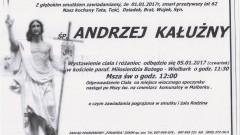 Zmarł Andrzej Kałużny. Żył 62 lata.