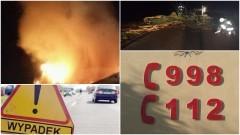 Pow. sztumski: Środowa wichura połamała wiele drzew. Strażacy zabezpieczali wypadek, kolizję oraz gasili pożary sadzy – 04.01.2017