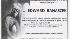 Zmarł Edward Banaszek. Żył 73 lata.