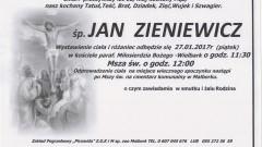 Zmarł Jan Zieniewicz. Żył 62 lata.