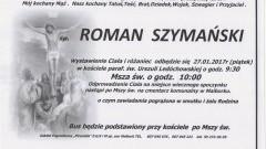 Zmarł Roman Szymański. Żył 67 lat.