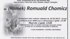 Zmarł (Romek) Romuald Chomicz. Żył 69 lat.