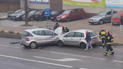 Sztum. Stłuczka na skrzyżowaniu ulic Sienkiewicza i Chopina – 03.02.2017