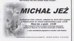 Zmarł Michał Jeż. Żył 60 lat.