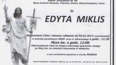 Zmarła Edyta Miklis. żyła 80 lat.