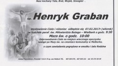 Zmarł Henryk Graban. Żył 74 lata.