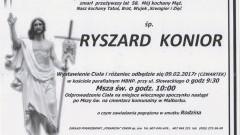 Zmarł Ryszard Konior. Żył 58 lat.