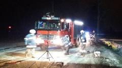 DK 22: VW bokiem uderzył w tira. Kobieta zginęła na miejscu – 13.02.2017