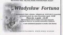 Zmarł Władysław Fortuna. Żył 76 lat.