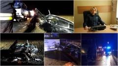 """Kiezmark. Na krajowej """"7"""" zderzenie czołowe autobusu PKS z samochodem osobowym - 20.02.2017"""