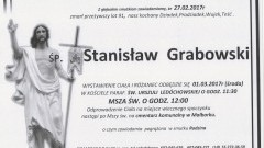 Zmarł Stanisław Grabowski. Żył 91 lat.