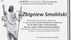 Zmarł Zbigniew Smoliński. Żył 52 lata.