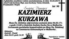 Zmarł Kazimierz Kurzawa. Żył 90 lat.