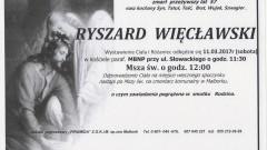 Zmarł Ryszard Więcławski. Żył 57 lat.