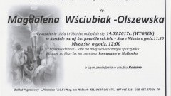 Zmarła Magdalena Wściubiak-Olszewska. Żyła 69 lat.