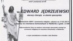 Zmarł Edward Jędrzejewski. Żył 69 lat.