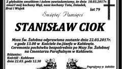 Zmarł Stanisław Ciok. Żył 79 lat.